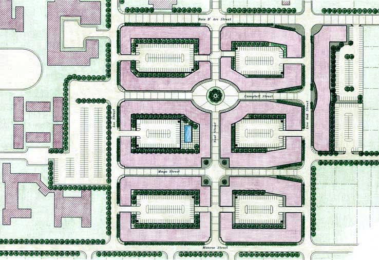 Urban Plan for Student Housing and Retail Development, Texas A&M University at Commerce, Texas.