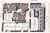 Urban Plan for Faculty and Student Housing with Retail, University of Texas at Arlington, Arlington, Texas.