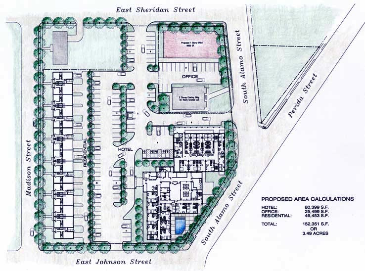 Master Plan for the Adaptive Re-Use of the Historic St. Benedict Hospital Campus King William Historic District, San Antonio, Texas.
